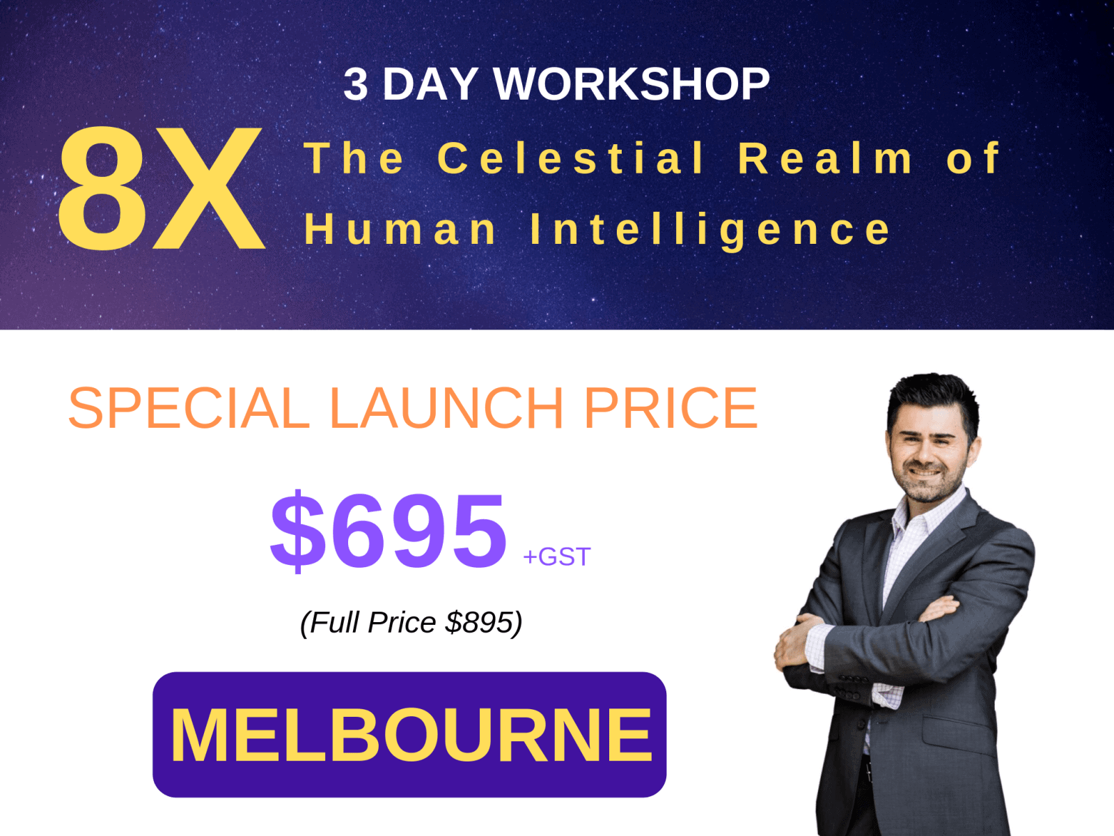 3 Day Workshop - 8X Melbourne