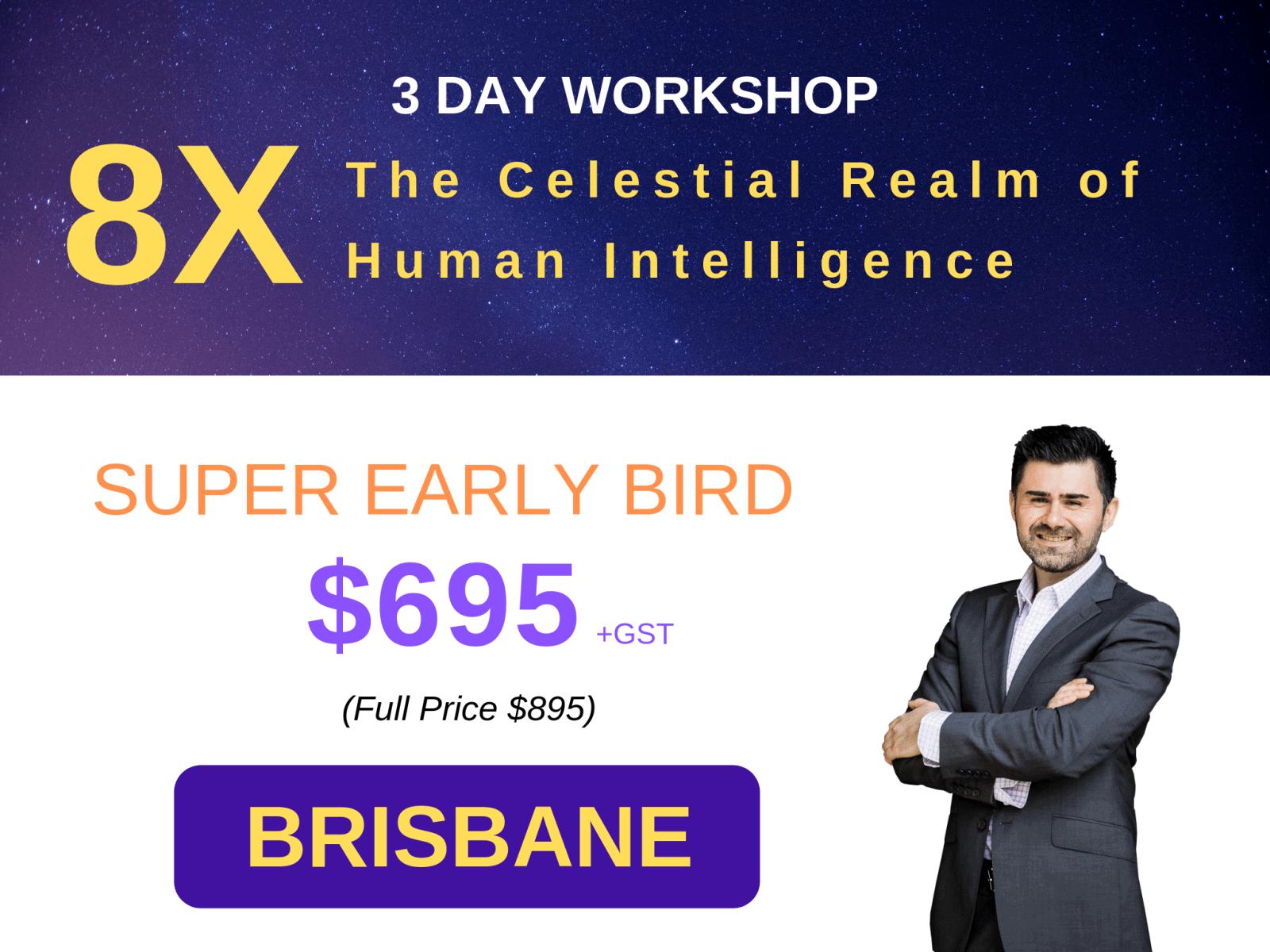 3 Day Workshop - 8X Brisbane