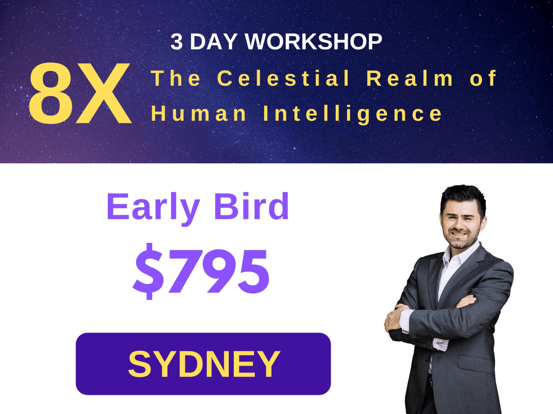 3 Day Workshop - 8X Sydney