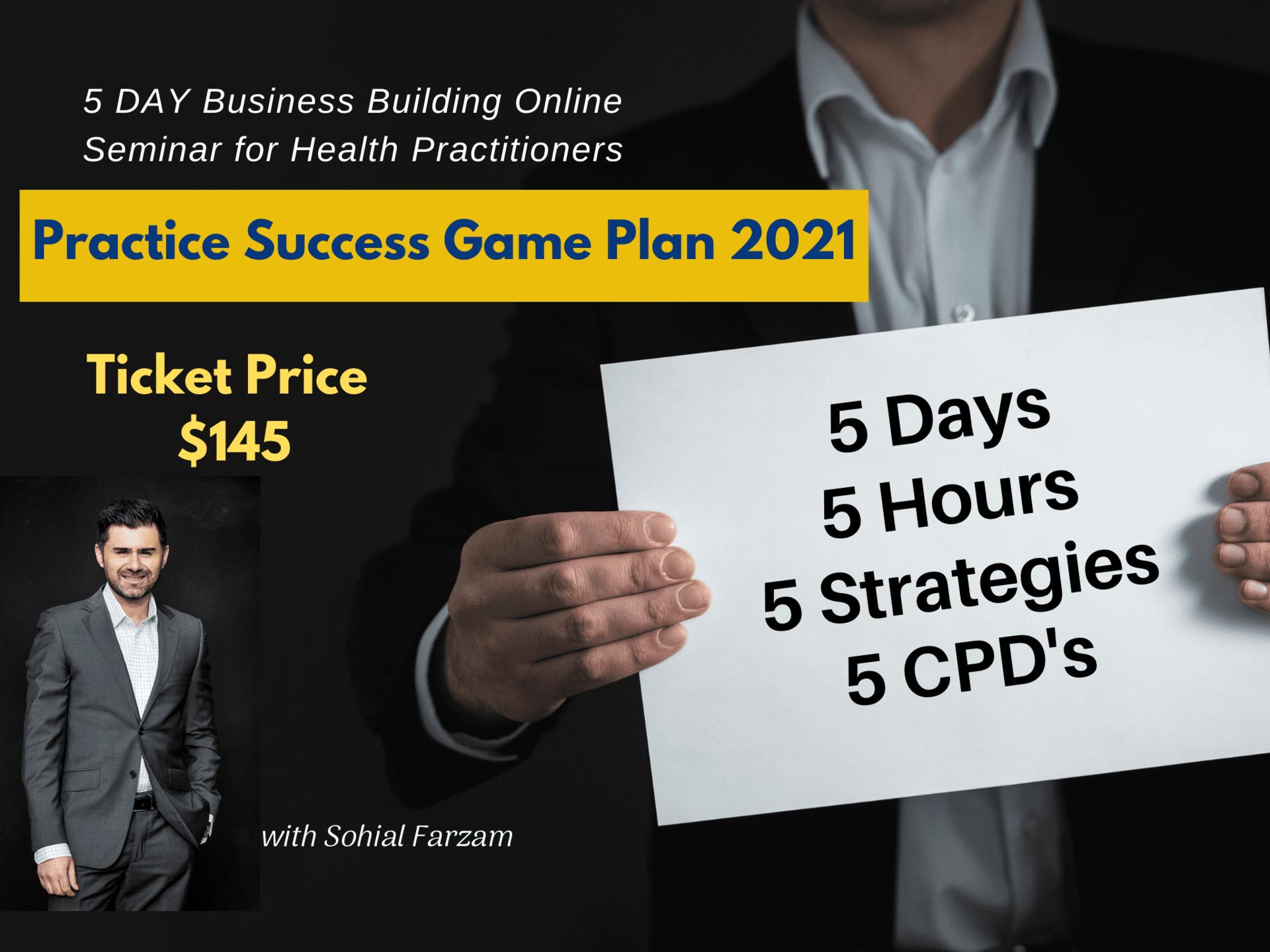 Practice Success Game Plan 2021 - Online Seminar